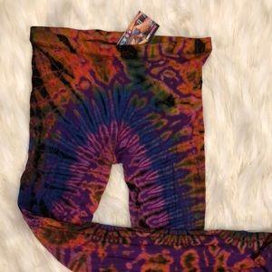 Pants - NWT! Hand dyed leggings yoga pants boho hippie